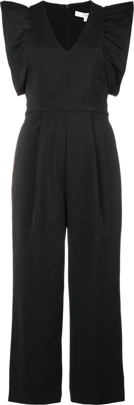 Tibi Stretch Faille jumpsuit
