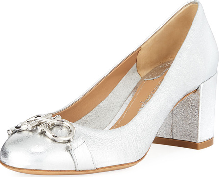 Salvatore Ferragamo Gancini Metallic Leather 55mm Pump