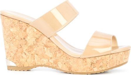 Jimmy Choo Parker 100 wedge sandals