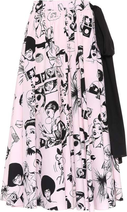 Prada Printed cotton midi skirt