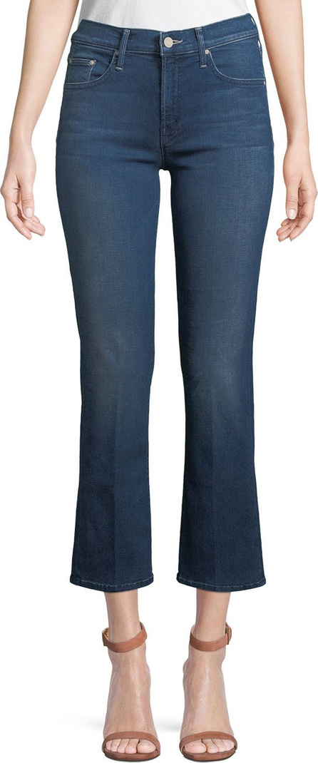 MOTHER The Outsider Cropped Flare-Leg Jeans