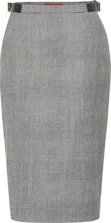 Altuzarra Bolan checked wool-blend skirt