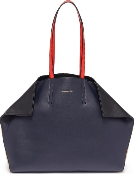 Alexander McQueen 'Butterfly' colourblock suede and leather tote