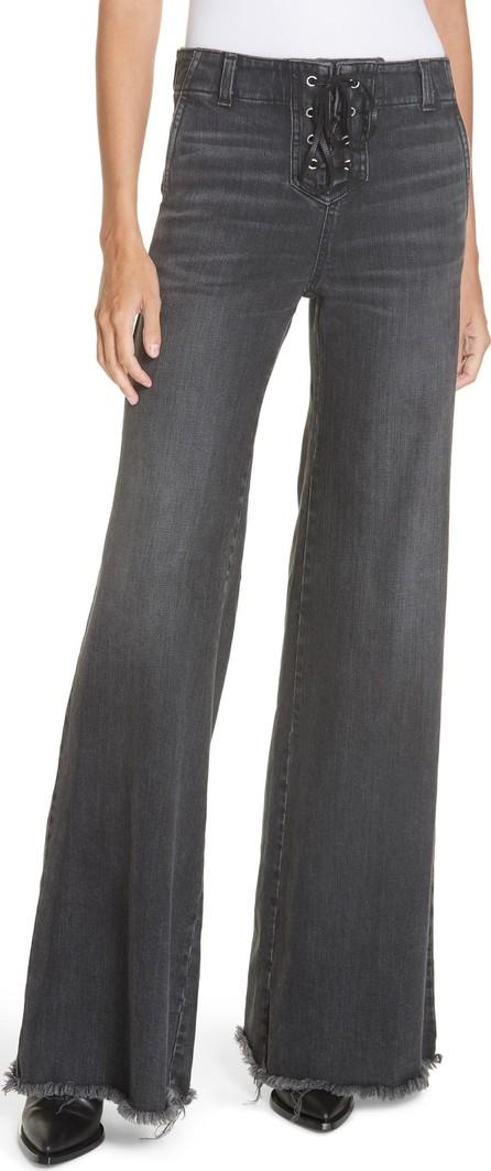 Nili Lotan Wade Lace-Up Wide Leg Jeans