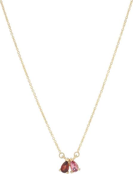 Aliita Tu Y Yo Gota 9kt gold necklace with garnet and tourmaline