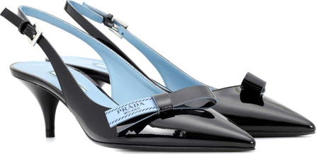 Prada Patent leather slingback pumps