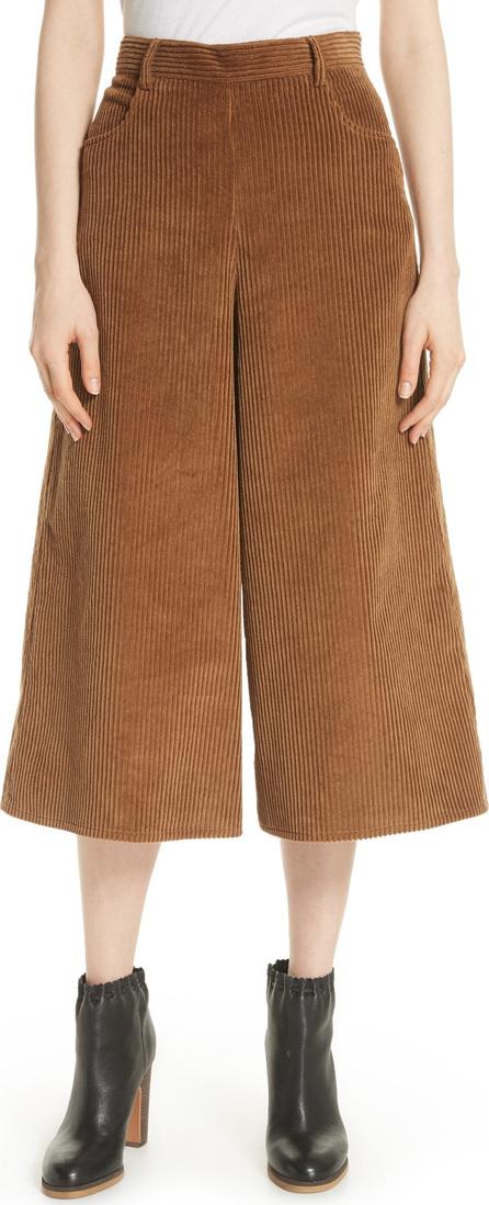 See By Chloé Corduroy Wide Leg Crop Pants
