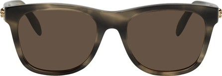 Alexander McQueen Grey & Black Square Sunglasses