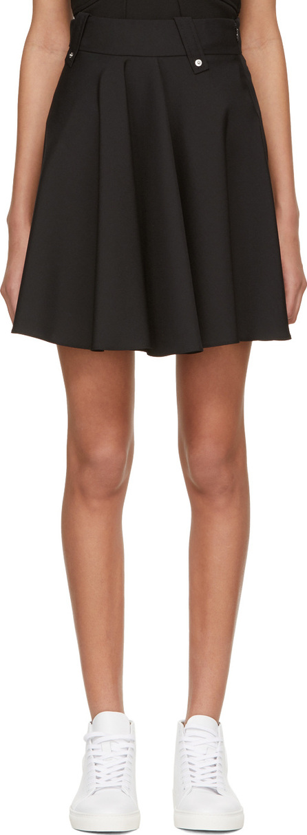 Black High-Waisted Short Skirt