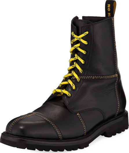 Ovadia & Sons Men's Panic Leather Combat Boots
