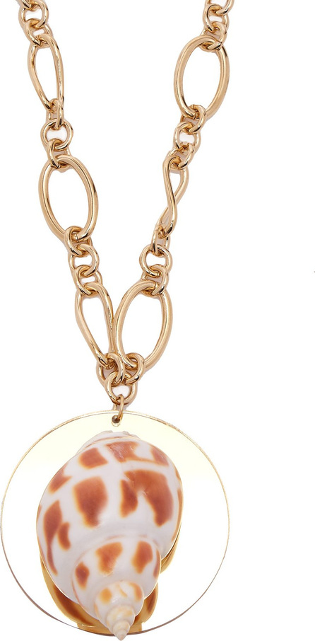 Rebecca de Ravenel Sirena shell and gold-plated pendant necklace