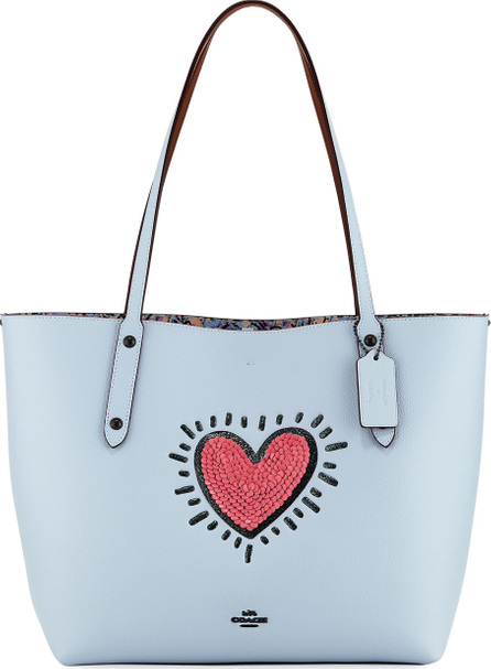COACH 1941 x Keith Haring Sequins Heart Market Tote Bag