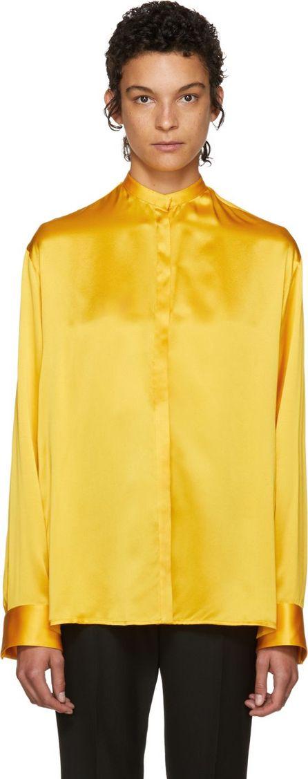 Haider Ackermann Yellow Classic Silk Shirt