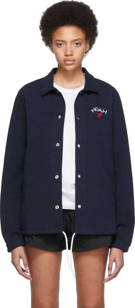 Noah NYC Navy Rugby Coaches Jacket