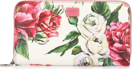 Dolce & Gabbana Rose leather zip wallet