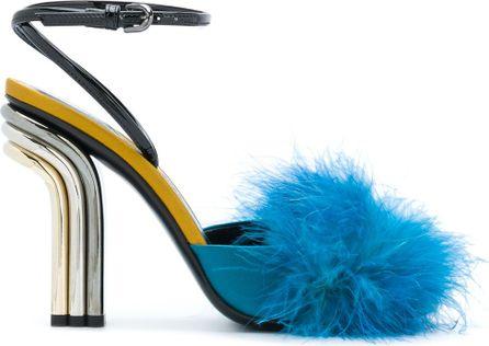 Marco De Vincenzo furry trim pumps