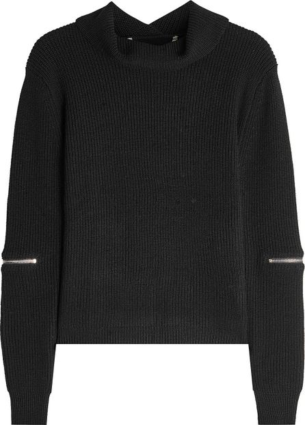 81hours Superfine Wool Turtleneck Pullover with Zippers