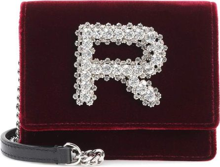 ROCHAS Embellished velvet shoulder bag