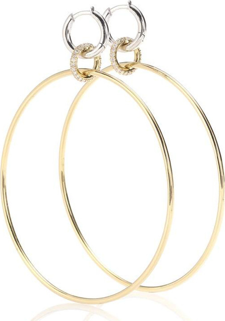 Spinelli Kilcollin Altaire 18kt yellow and white gold hoop earrings with diamonds