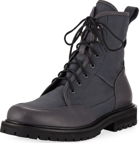 Aquatalia Men's Irus Mesh Boots with Leather Trim