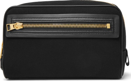 TOM FORD Leather-Trimmed Canvas Wash Bag