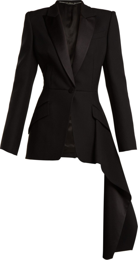 Alexander McQueen Draped wool-silk jacket