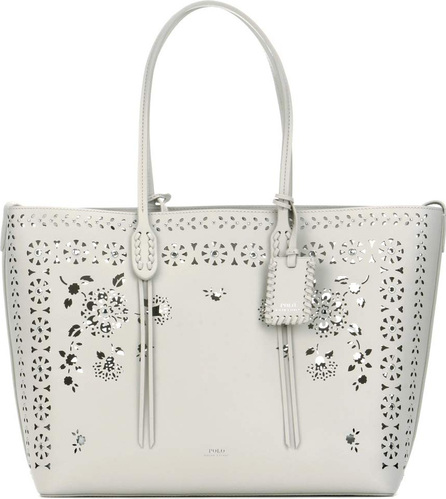 Perforated leather shopper