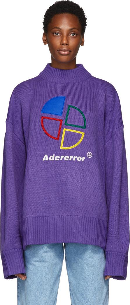 ADER error Purple Slice Logo Sweater