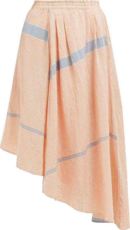 APIECE APART Turkanna striped handkerchief hem cotton skirt