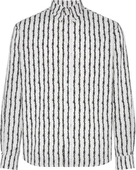 Ashley Williams Barbwire Striped Cotton Bowling Shirt