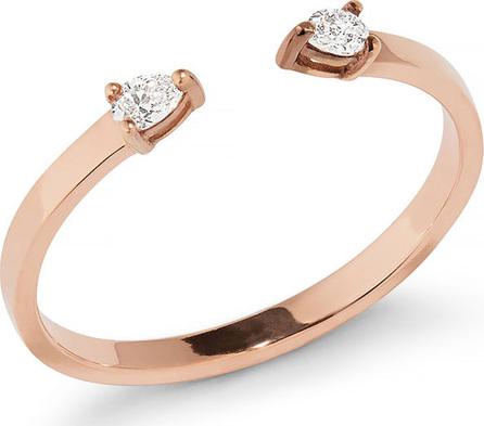 Lana Echo 14k Gold Open Diamond Pear Ring