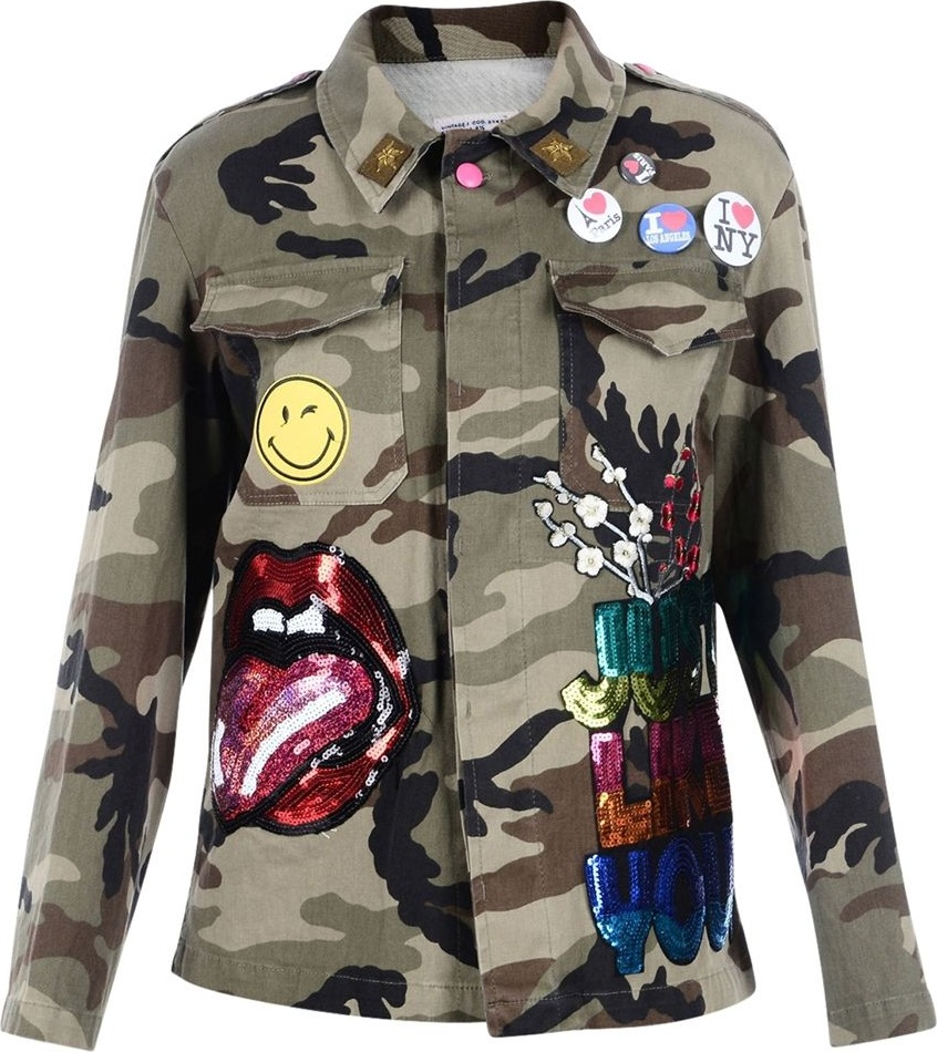 History Repeats - Multicolor Patches Camouflage Jacket