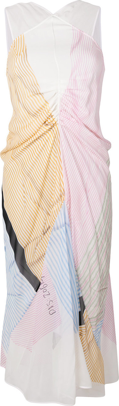 Victoria Beckham Gathered striped dress