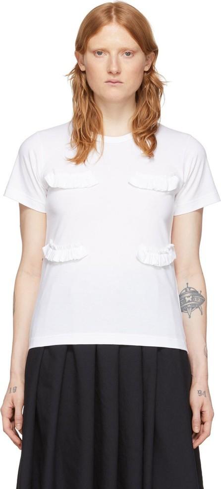 Comme Des Garçons Girl White Ruffle T-Shirt