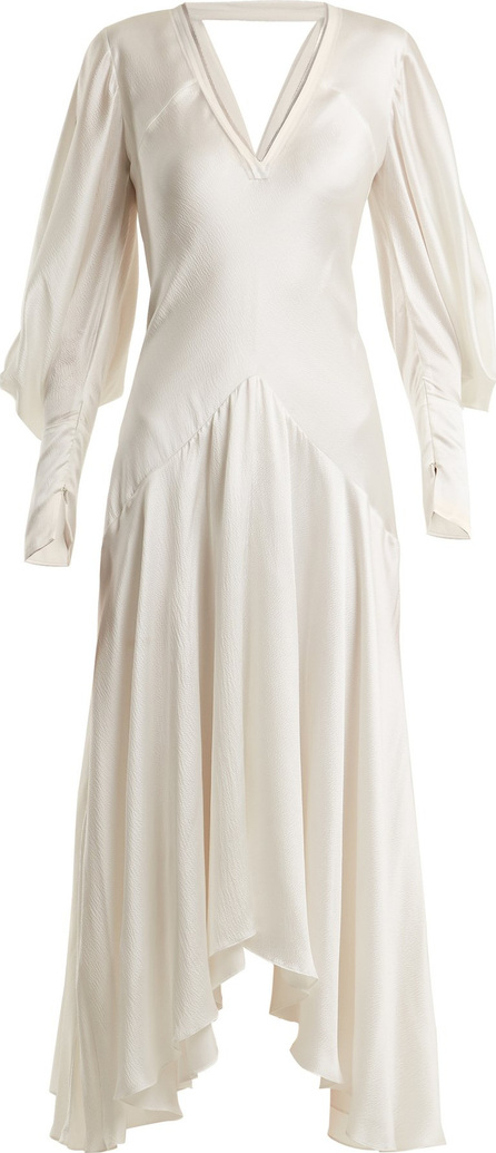 Roksanda Zenku asymmetric-hem silk dress