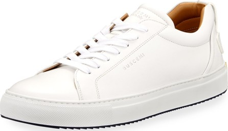 Buscemi Men's Lyndon Leather Low-Top Sneakers, White