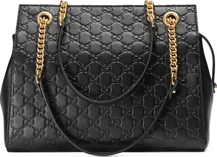 Gucci Gucci Signature Chain-Handle Tote Bag