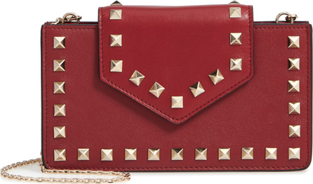 Valentino Rockstud Leather Smartphone Case