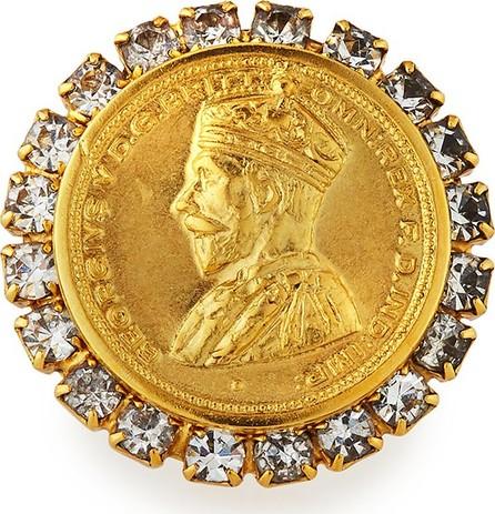 Elizabeth Cole Adela Coin Ring w/ Crystals