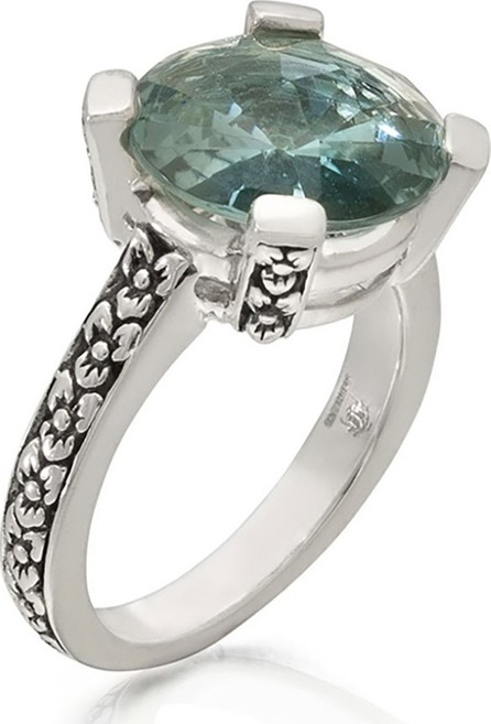 Stephen Dweck Aqua Quartz Floral Ring