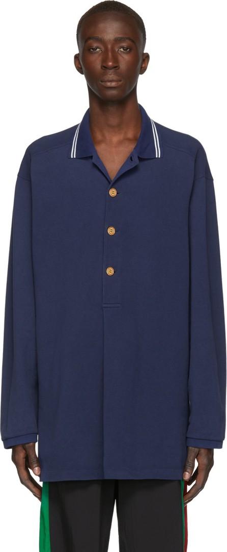 Gucci Blue Piqué Polo