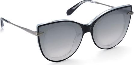 KREWE Laveau Cat-Eye Acetate & Metal Mirrored Sunglasses