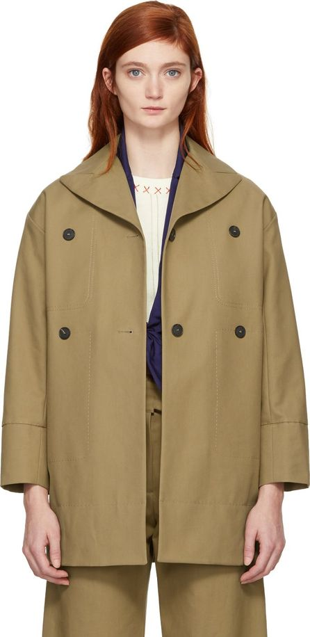 Carven Beige Cotton Coat