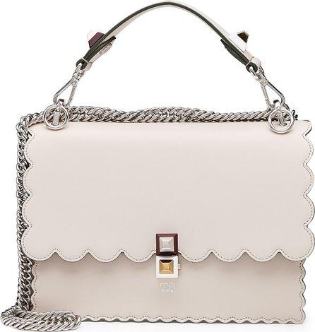 Fendi Kan I Mini Leather Shoulder Bag