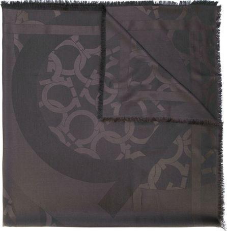 Salvatore Ferragamo Gancio print scarf