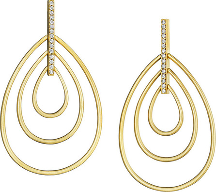 Carelle Moderne 18k Diamond Teardrop Earrings