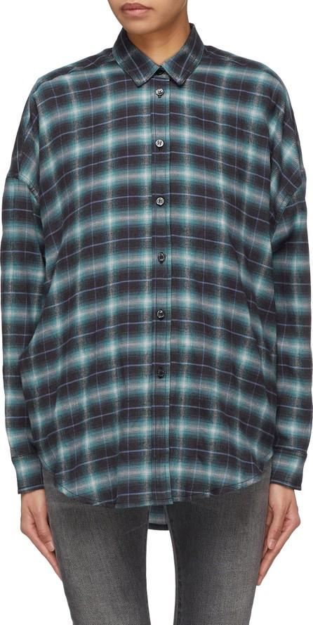 Adaptation Check plaid twill shirt