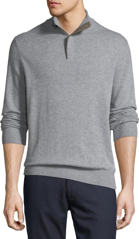 Ermenegildo Zegna Cashmere Quarter-Zip Pullover Sweater