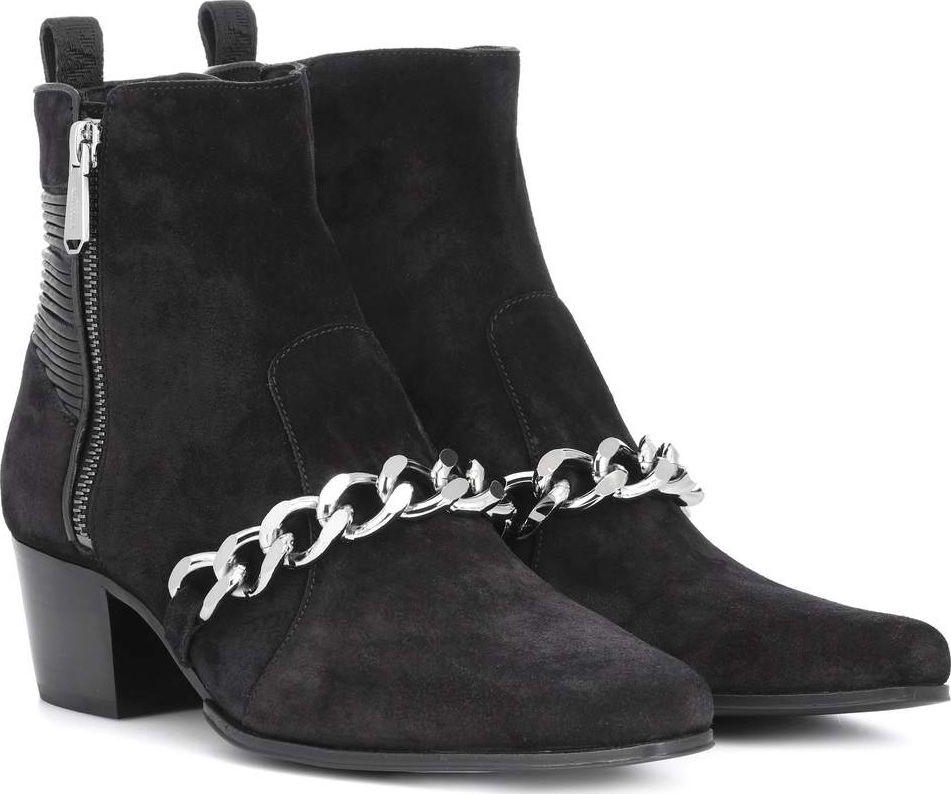 Balmain Designer Shoes, Leather Ella Studs Boots
