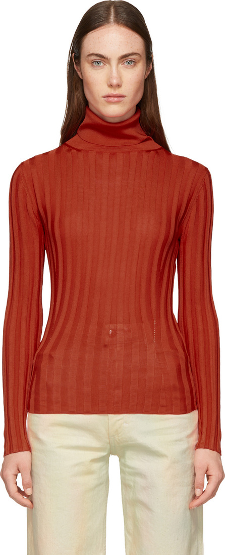 Acne Studios Red Fitted Turtleneck